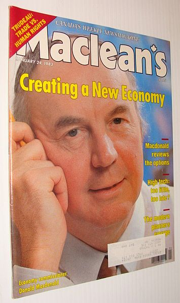 Image for Maclean's Magazine, January 24, 1983 *Donald Macdonald Cover Photo*