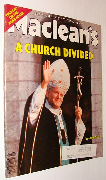 Image for Maclean's Magazine, January 10, 1983 *The Catholic Church Divided - Cover Photo of Pope John Paul II*