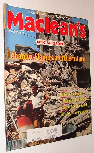 Image for Maclean's Magazine, August 23, 1982: Lebanon - Flames and the Future