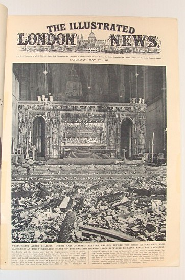 Image for The Illustrated London News, May 17, 1941 *Cover Photo of Westminster Abby Bomb Damage / The Sensational Flight By Rudolph Hess from Germany to Glasgow