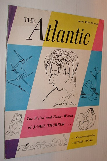 Image for The Atlantic Magazine, August 1956 - Sketch of James Thurber on Front Cover
