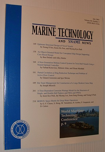Image for Marine Technology and SNAME News, July 2003