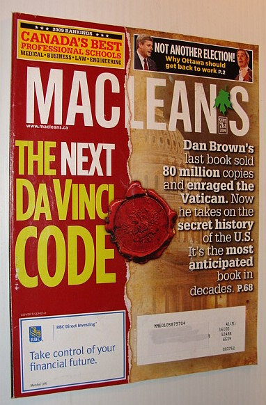Image for Maclean's Magazine, September 21, 2009 *The Next Da Vinci Code*