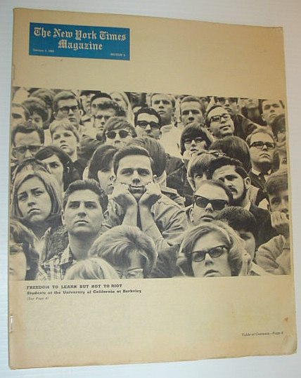 Image for The New York Times Magazine, January 3, 1965 *COVER PHOTO OF BERKELEY STUDENTS*