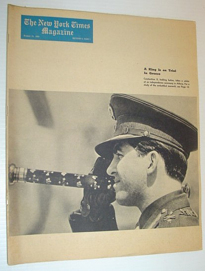 Image for The New York Times Magazine, August 15, 1965  *COVER PHOTO OF GREEK KING CONSTANTINE*