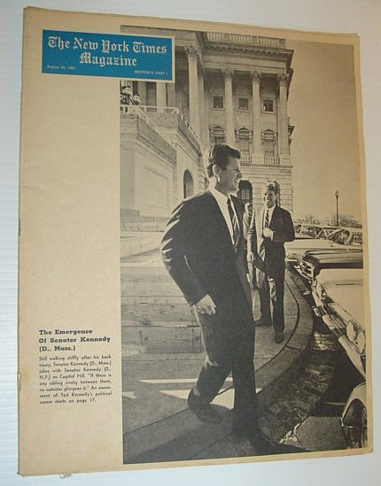 Image for The New York Times Magazine, August 22, 1965  *COVER PHOTO OF TED KENNEDY AND JFK*