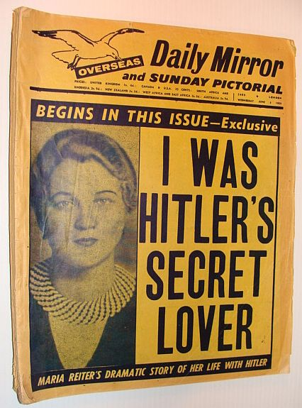 Image for Daily Mirror and Sunday Pictorial (Overseas), Wednesday 3 June 1959 *I WAS HITLER'S SECRET LOVER*