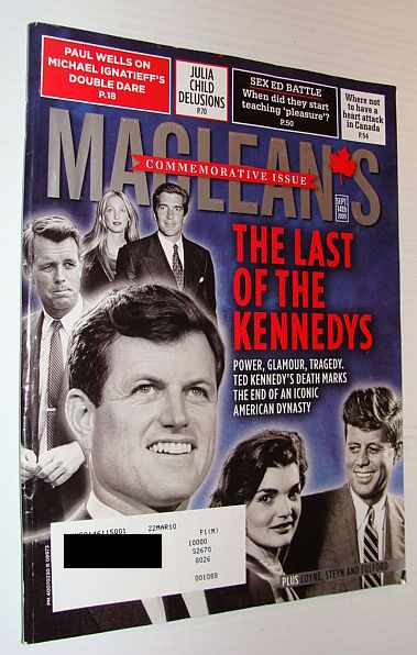 Image for Maclean's Magazine 14 September 2009 *Ted Kennedy Commemorative Issue*