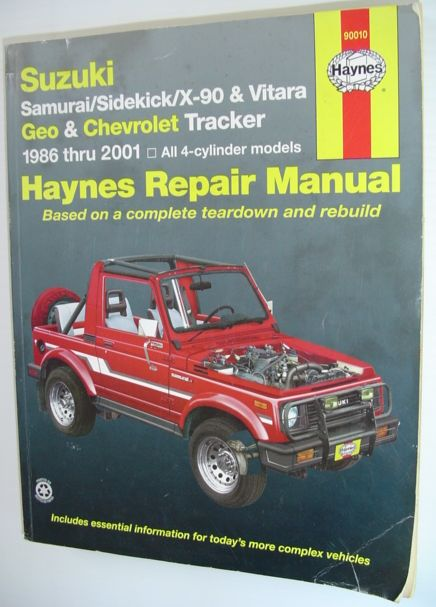 Image for Suzuki Samurai, Sidekick, X90, and Vitara; Geo/Chevrolet Tracker (Haynes Repair Manuals)