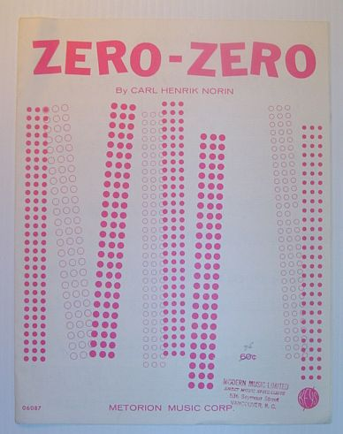 Image for Zero-Zero: Sheet Music