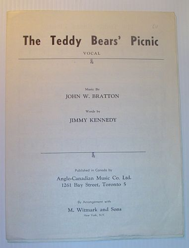 Image for The Teddy Bears' Picnic - Vocal with Piano Music