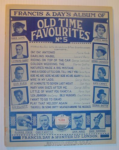 Image for Francis & Day's Album of Old Time Favourites No. (Number) 5