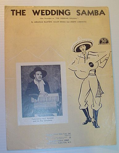 "Image for The Wedding Samba (Also Recorded as ""The Wedding Rhumba"" - Sheet Music for Voice and Piano"