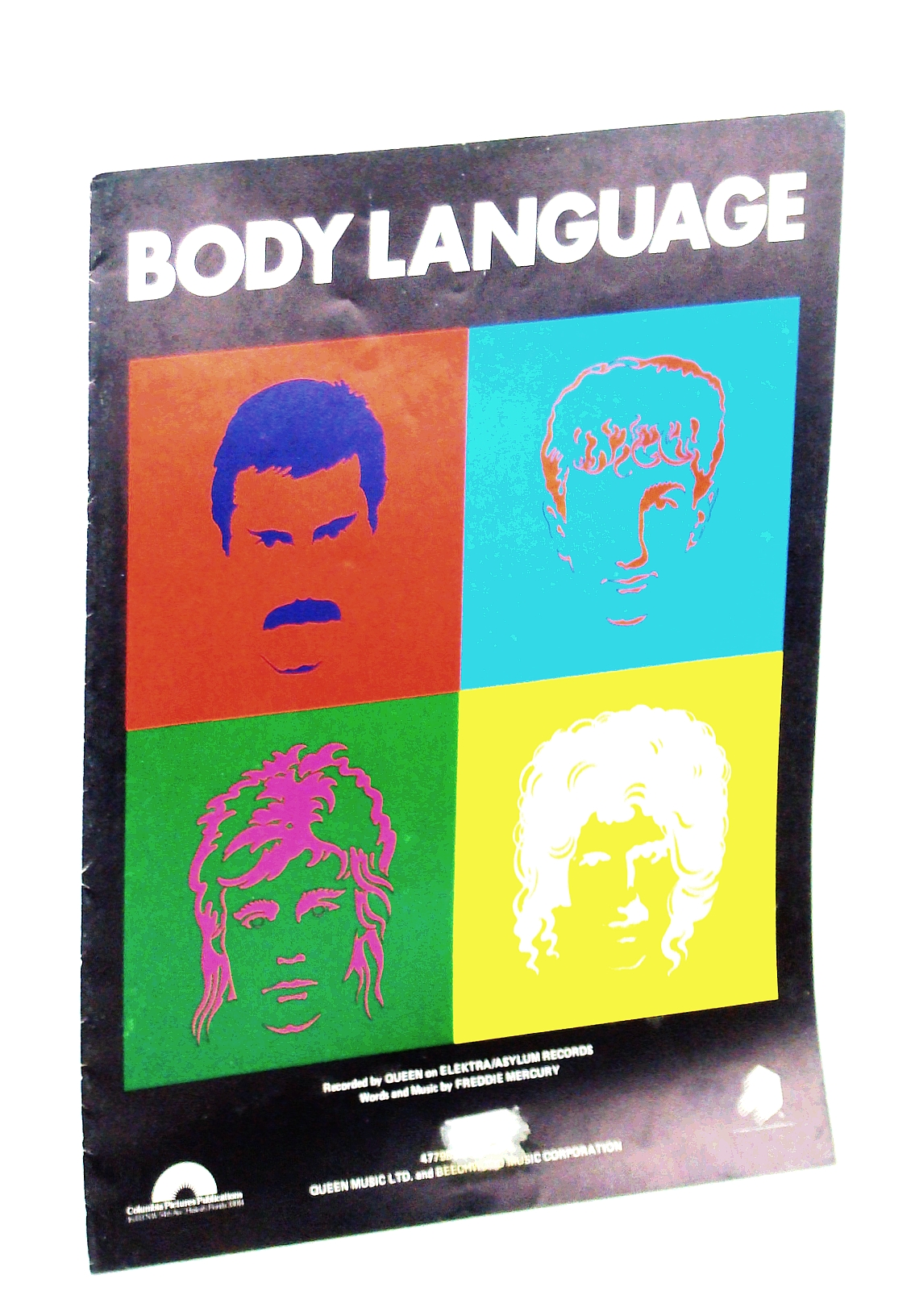 Image for Body Language - Recorded By Freddie Mercury and Queen: Sheet Music for Voice and Piano with Guitar Chords