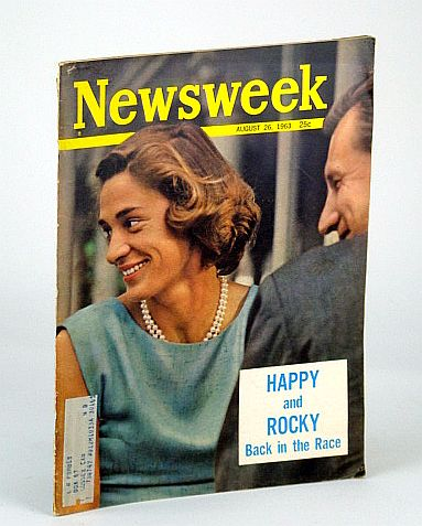 "Image for Newsweek Magazine, August 26, 1963 - Cover Photo of Nelson Rockefeller and ""Happy"" Murphy"