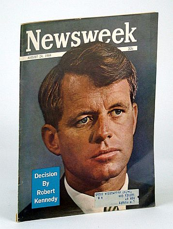 Image for Newsweek Magazine, August 24, 1964 - Robert Kennedy (RFK) Cover Photo