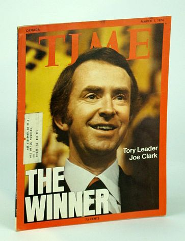 Image for Time Magazine (Canadian Edition), March (Mar.) 1, 1976 - Joe Clark Cover Photo