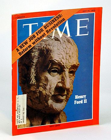 Image for Time Magazine (Canadian Edition), July 20, 1970 - Henry Ford II Cover Illustration