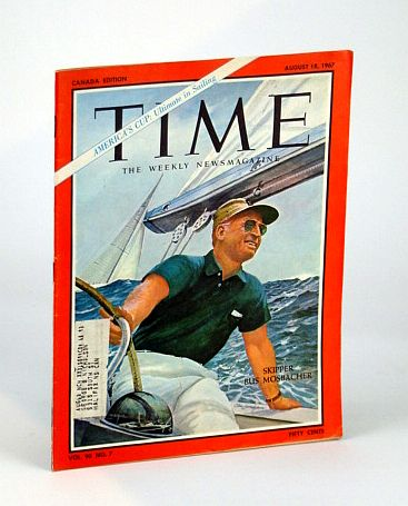 Image for Time Magazine (Canadian Edition) August (Aug.) 18, 1967 - Skipper Bus Mosbacher Cover
