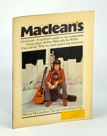 Image for Maclean's - Canada's National Magazine, March (Mar.) 1973 - Murray McLauchlan Cover Photo