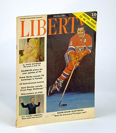 Image for Liberty Magazine - Canada's Young Family Magazine, February (Feb.) 1962: Boom-Boom Geoffrion Cover Photo