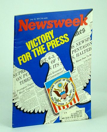 Image for Newsweek Magazine, July 12, 1971 - Victory for the Press