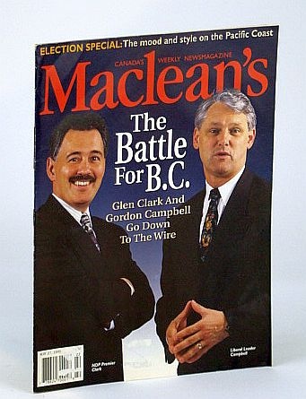 Image for Maclean's - Canada's Weekly Newsmagazine, May 27, 1996 - The Battle for B.C. (British Columbia)