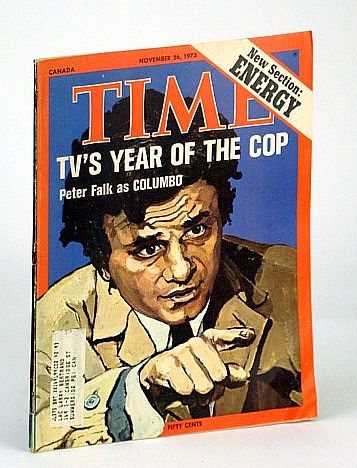 Image for Time Magazine, Canadian Edition, November (Nov.) 26, 1973 - Peter Falk / Columbo Cover Illustration