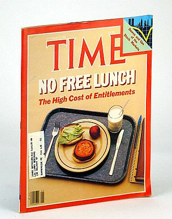 Image for Time Magazine (Canadian Edition), October (Oct.) 12, 1981 - The High Cost of Entitlements