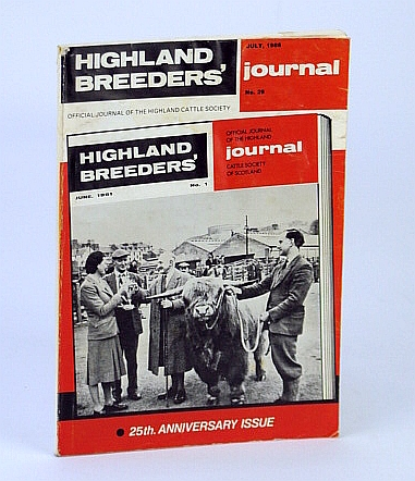 Image for Highland Breeders' Journal - Official Journal of the Highland Cattle Society, July 1986, No. 29