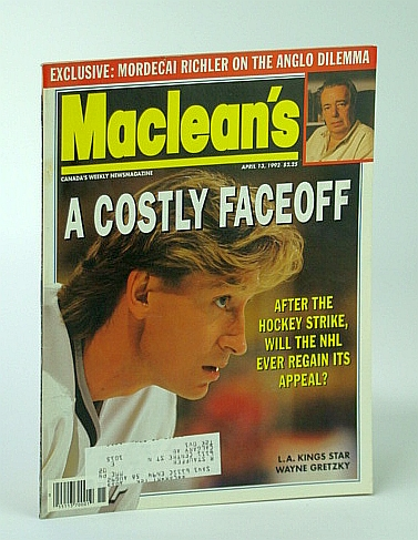 Image for Maclean's, Canada's Weekly Newsmagazine - April (Apr.) 13, 1993 - Wayne Gretzky Cover Photo