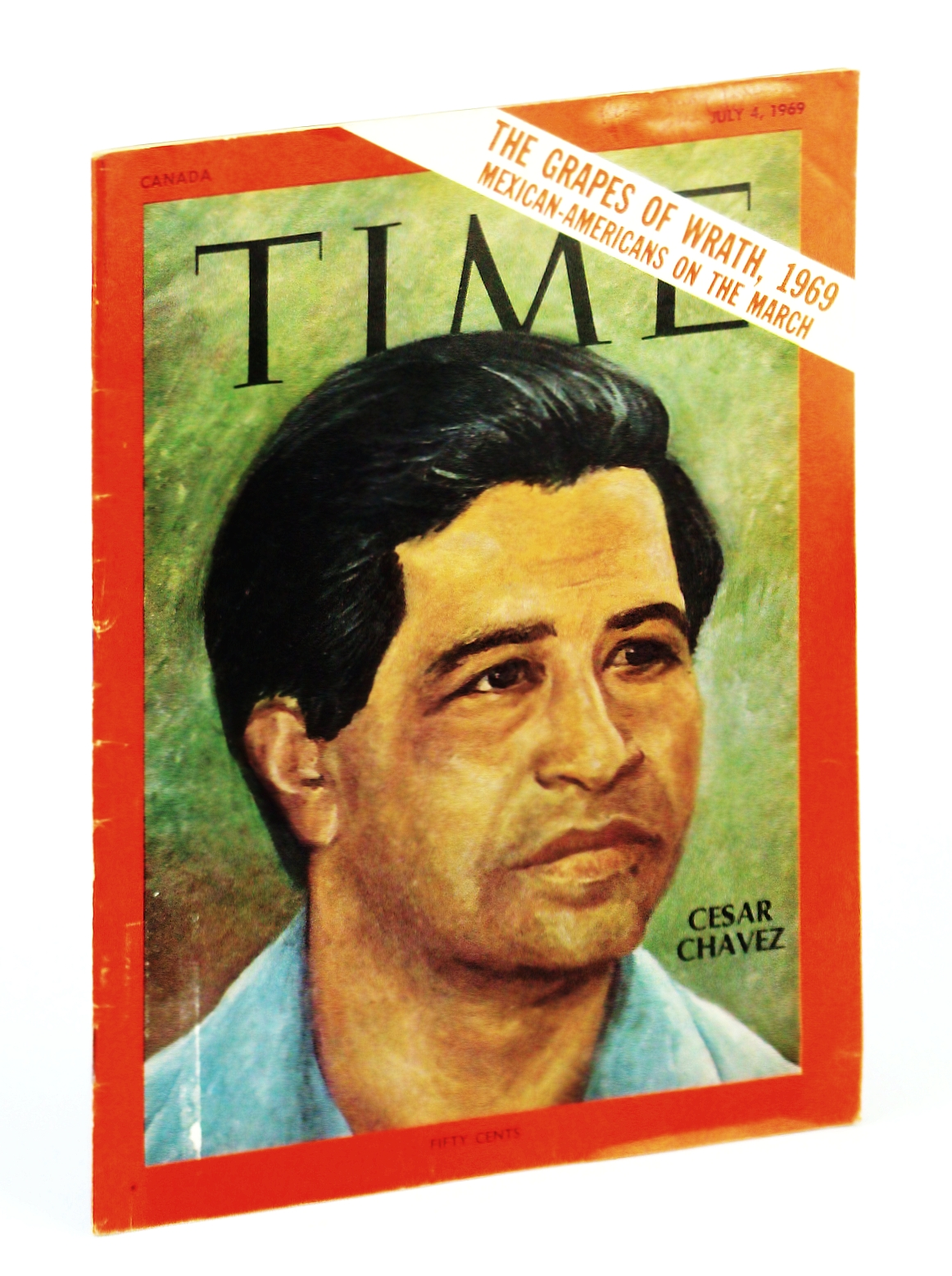 Image for Time Magazine (Canadian Edition) July 4, 1969 - Cesar Chavez Cover