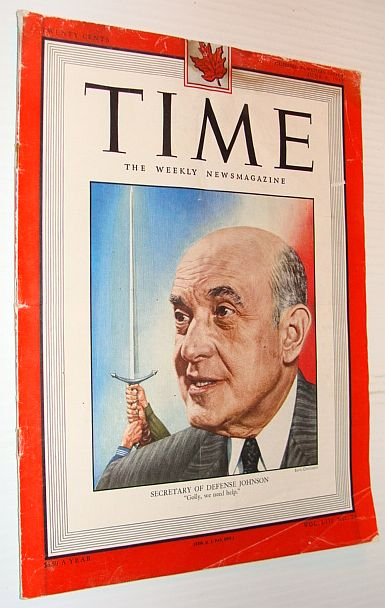 Image for Time Magazine, 6 June 1949 *Cover Portrait of U.S. Secretary of Defense Louis Johnson*