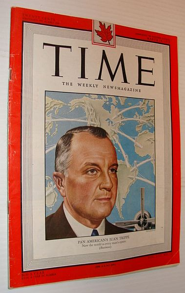 Image for Time Magazine, 28 March 1949 *Cover Portrait of Pan American Airways' Juan Trippe*