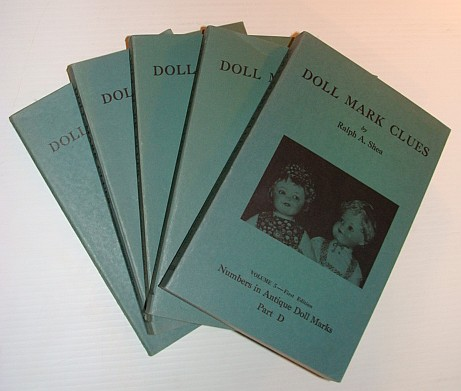 Image for Doll Mark Clues - First Five Volumes: Volume 1 - Antique Dolls Dictionary, Volume 2 - Numbers in Antique Doll Marks, Volume 3 - Numbers in Antique Doll Marks, Volume 4  - Numbers in Antique Doll Marks, and Volume 5 - Numbers in Antique Doll Marks