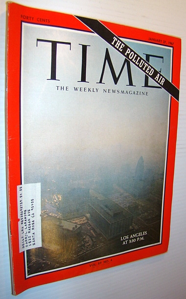 Image for Time Magazine, January 27, 1967 - Los Angeles Smog Cover Photo