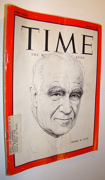 Image for Time Magazine, March 10, 1967 - Henry R. Luce Cover
