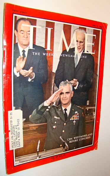 Image for Time Magazine, May 5, 1967 - Cover photo of General Westmoreland Before Congress