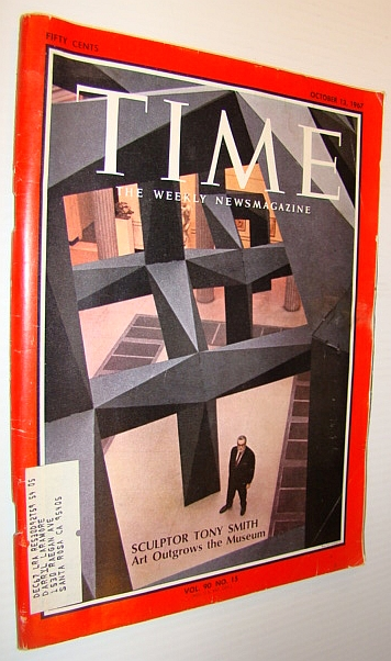 Image for Time Magazine, October 13, 1967 - Sculptor Tony Smith Cover