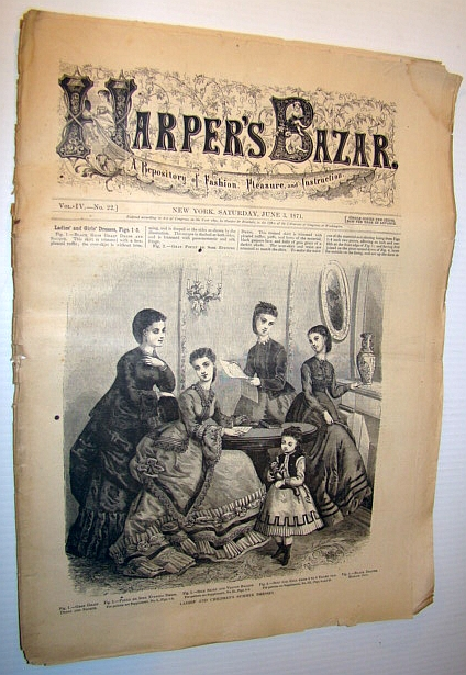 Image for Harper's Bazar (Bazaar), June 3, 1871 - A Repository of Fashion, Pleasure, and Instruction