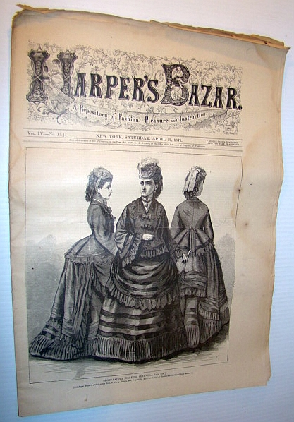 Image for Harper's Bazar (Bazaar), April 29, 1871 - A Repository of Fashion, Pleasure, and Instruction