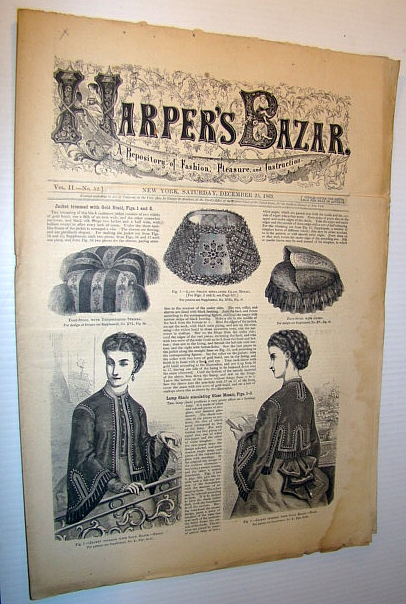 Image for Harper's Bazar (Bazaar), December 25, 1869 - A Repository of Fashion, Pleasure, and Instruction