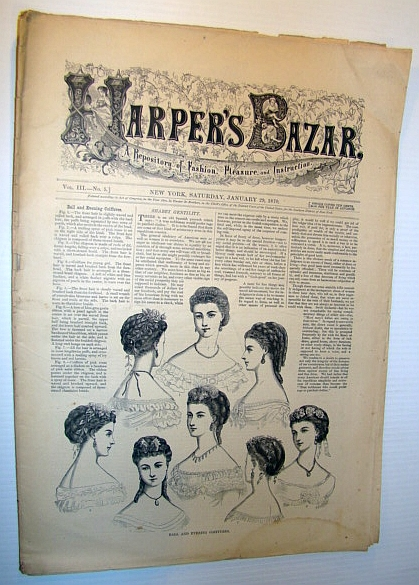 Image for Harper's Bazar (Bazaar), April 23, 1870 - A Repository of Fashion, Pleasure, and Instruction