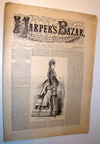 Image for Harper's Bazar (Bazaar), April 9, 1870 - A Repository of Fashion, Pleasure, and Instruction