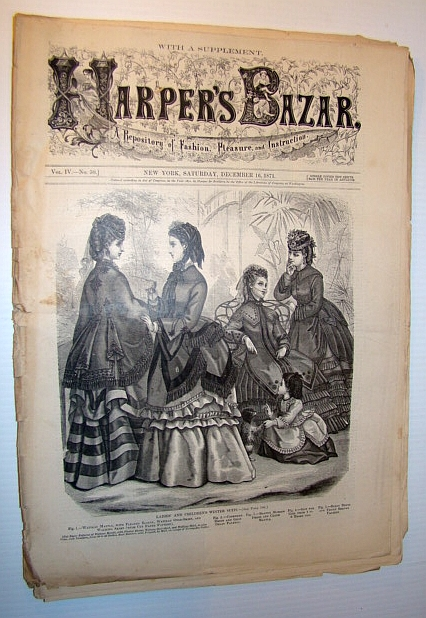 Image for Harper's Bazar (Bazaar) Magazine, December 16, 1871 - A Repository of Fashion, Pleasure, and Instruction