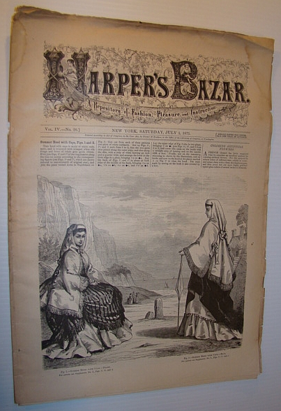 Image for Harper's Bazar (Bazaar) Magazine, 1 July, 1871 - A Repository of Fashion, Pleasure, and Instruction