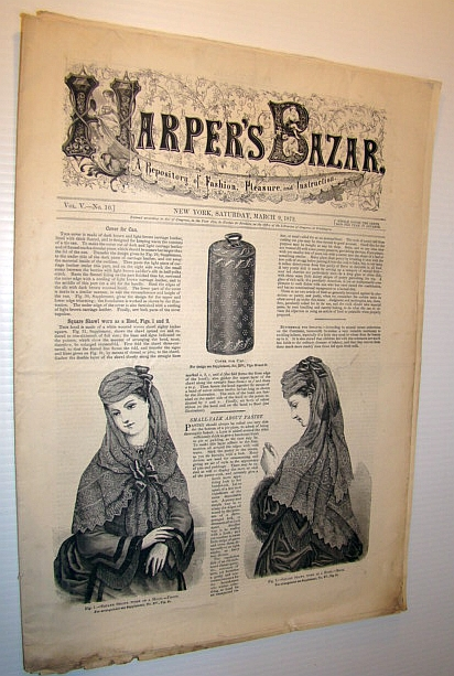 Image for Harper's Bazar (Bazaar) Magazine, March 9, 1872 - A Repository of Fashion, Pleasure, and Instruction