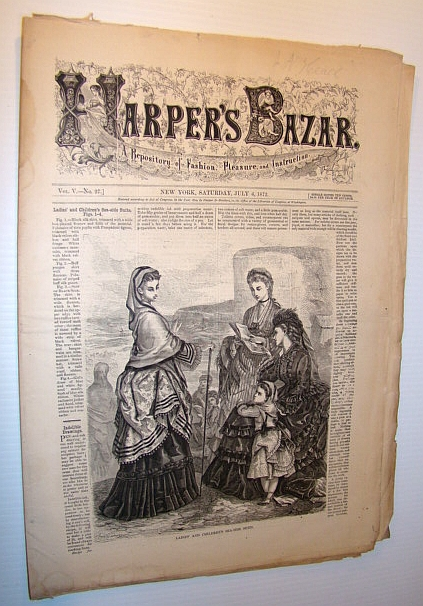 Image for Harper's Bazar (Bazaar) Magazine, July 6, 1872 - A Repository of Fashion, Pleasure, and Instruction
