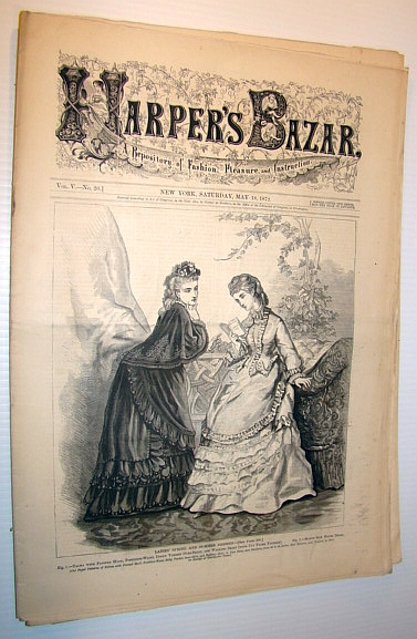 Image for Harper's Bazar (Bazaar) Magazine, May 18 1872 - A Repository of Fashion, Pleasure, and Instruction