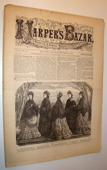 Image for Harper's Bazar (Bazaar) Magazine, December 21, 1872 - A Repository of Fashion, Pleasure, and Instruction